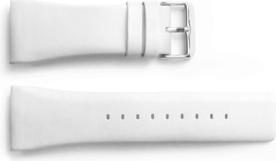 White Replacement Leather Band GENII - 1 Pc